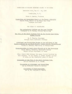 Thumbnail of Conference on Present Economic Status of the Negro: tentative program