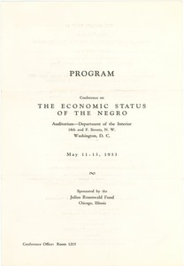 Thumbnail of Conference on the Economic Status of the Negro program