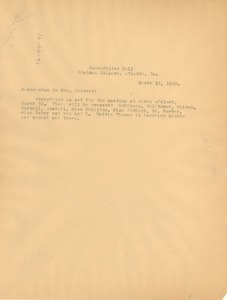 Thumbnail of Letter from W. E. B. Du Bois to Mrs. Shivery