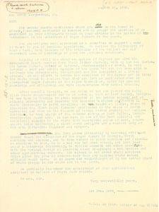 Thumbnail of Letter from W. E. B. Du Bois and Ira D. A. Reid to Henry Morgenthau, Jr.