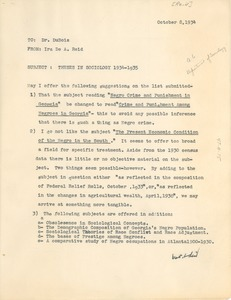 Thumbnail of Memorandum from Atlanta University to W. E. B. Du Bois