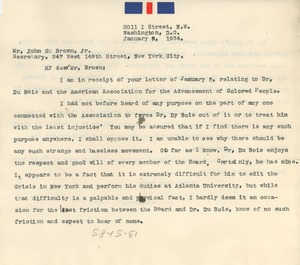 Thumbnail of Letter from Charles Edward Russell to John S. Brown, Jr.