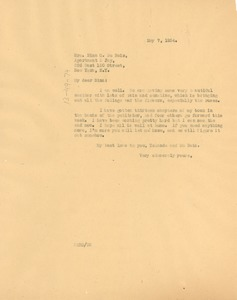 Thumbnail of Letter from W. E. B. Du Bois to Nina Du Bois