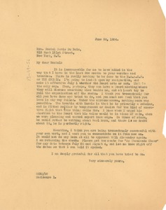 Thumbnail of Letter from W. E. B. Du Bois to Rachel Davis DuBois