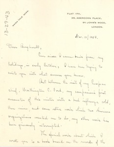 Thumbnail of Letter from Ruth Anna Fisher to W. E. B. Du Bois