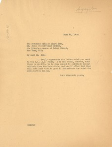 Thumbnail of Letter from W. E. B. Du Bois to William Lloyd Imes