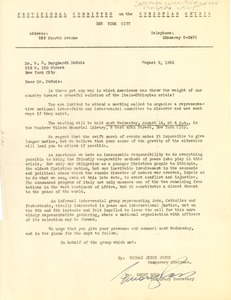 Thumbnail of Letter from The American Committee on the Ethiopian Crisis to W. E. B. Du Bois