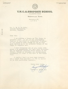 Thumbnail of Letter from George F. Bagby III to W. E. B. Du Bois