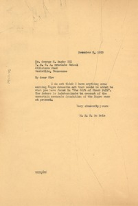 Thumbnail of Letter from W. E. B. Du Bois to George F. Bagby III