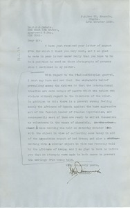 Thumbnail of Letter from Y. K. Dimmock to W. E. B. Du Bois