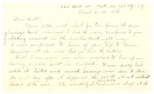 Thumbnail of Letter from Nina Du Bois to W. E. B. Du Bois