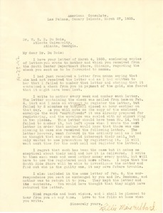 Thumbnail of Letter from Lillie Maie Hubbard to W. E. B. Du Bois