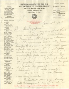 Thumbnail of Letter from Daisy E. Lampkin to W. E. B. Du Bois