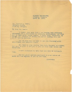 Thumbnail of Letter from Rayford W. Logan to Raymond Leslie Buell