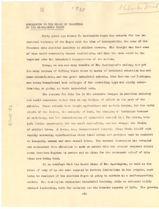 Thumbnail of Memorandum from W. E. B. Du Bois to Oberlaender Trust