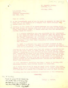 Thumbnail of Letter from George S. Oettlé to Carnegie Corporation