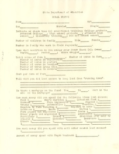 Thumbnail of Questionnaire on rural status