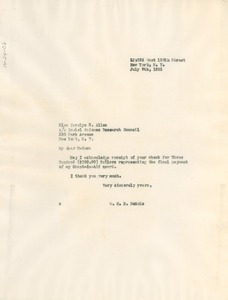 Thumbnail of Letter from W. E. B. Du Bois to Social Science Research Council