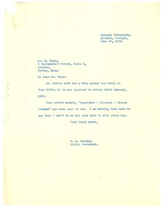Thumbnail of Letter from W. A. Shields to H. Bryan