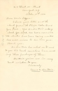 Thumbnail of Letter from Nina Du Bois to Ellen Irene Diggs
