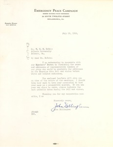 Thumbnail of Letter from Emergency Peace Campaign to W. E. B. Du Bois