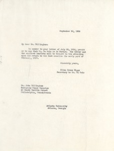 Thumbnail of Letter from Ellen Irene Diggs to Emergency Peace Campaign