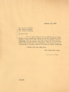 Thumbnail of Letter from W. E. B. Du Bois to Edwin L. Farley