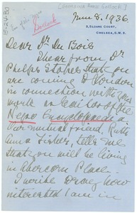Thumbnail of Letter from Georgina Anne Gollock to W. E. B. Du Bois