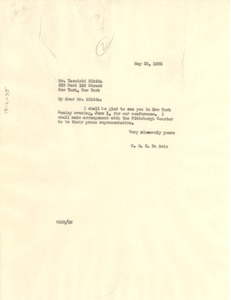 Thumbnail of Letter from W. E. B. Du Bois to Y. Hikida