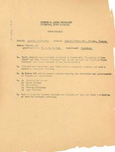 Thumbnail of Questionnaire on Atlanta University