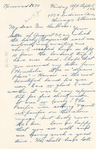 Thumbnail of Letter from Mildred Bryant Jones to W. E. B. Du Bois