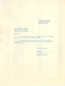 Thumbnail of Letter from S. A. Sullivan to Robert L. Lawery