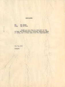 Thumbnail of Memorandum from W. E. B. Du Bois to Rayford W. Logan