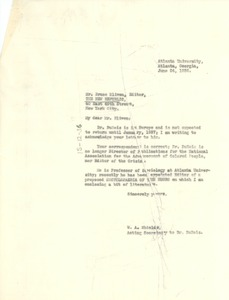 Thumbnail of Letter from W. A. Shields to New Republic