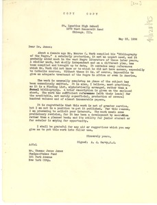 Thumbnail of Letter from A. J. Garvy to Phelps-Stokes Fund