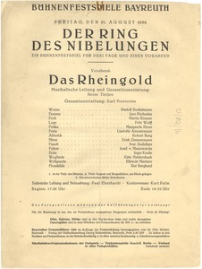 Thumbnail of Der Ring Des Nibelungen program Das Rheingold