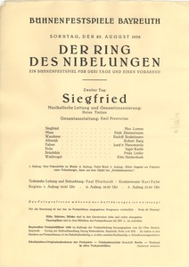 Thumbnail of Der Ring Des Nibelungen program Siegfried