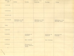 Thumbnail of Semester II sociology course calendar