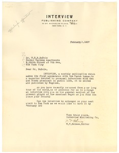 Thumbnail of Letter from International Missionary Council to W. E. B. Du Bois