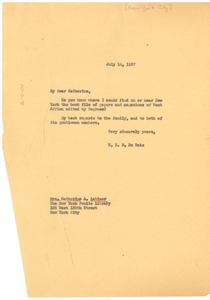 Thumbnail of Letter from W. E. B. Du Bois to New York Public Library