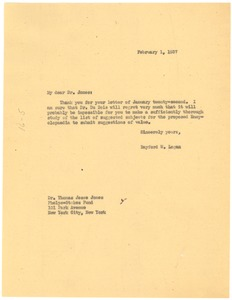 Thumbnail of Letter from Rayford W. Logan to Phelps-Stokes Fund