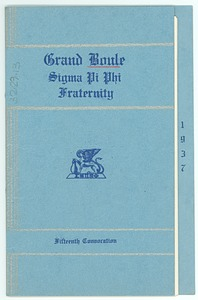 Thumbnail of Sigma Pi Phi Grand Boulé fifteenth convocation booklet