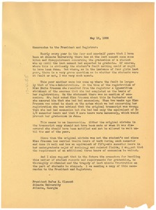 Thumbnail of Memorandum from W. E. B. Du Bois to John P. Whittaker and Rufus Clement