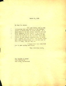 Thumbnail of Letter from W. E. B. Du Bois to Charles T. Loram