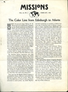 Thumbnail of The  Color line from Edinburgh to Atlanta