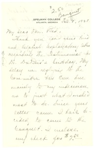 Thumbnail of Letter from Luella F. Norwood to Ira De A. Reid