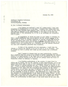 Letter from Robert E. Park to Diedrich Westermann