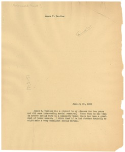 Thumbnail of Letter from Julius Rosenwald Fund to W. E. B. Du Bois
