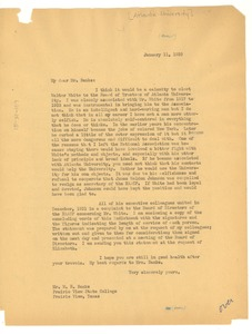 Thumbnail of Letter from W. E. B. Du Bois to W. R. Banks