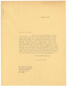Thumbnail of Letter from W. E. B. Du Bois to the Carnegie Foundation